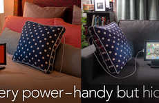 Battery-Boosting Couch Cushions - The Power Pillow Ensures Your Gadgets are Always Charged
