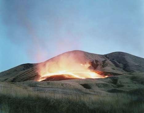 Controlled-Burn Farming Photography