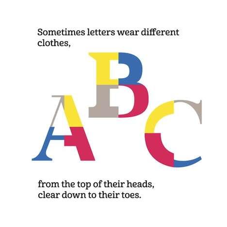 Toddler Typeface Teaching Books