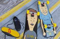 Comedic Cartoon Cruisers - These Beavis and Butthead Cruisers from Globe Skateboards are Nostalgic