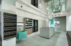 Understated Beauty Shops - This Cosmetic Shop Design Expresses Beauty in Raw Materials