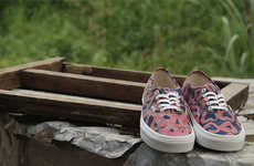 Batik Skater Sneakers - The VANS x Della Shoes Feature a Rustic West African Tie-Dye Print