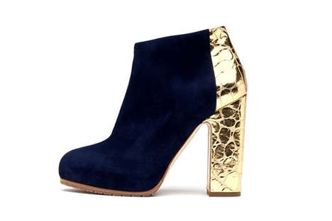 Golden Foil Boots