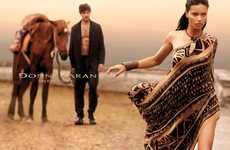 Seductive Tribal Fashion Ads - The Donna Karan SS14 Campaign Stars Brazilian Model Adriana Lima