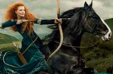 Celeb Fairytale Photos (UPDATE) - Latest Disney Dream Portraits Casts Jessica Chastain as Merida
