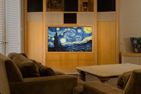 TV-Displayed Famous Paintings