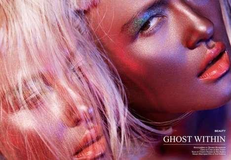 Glitter-Glazed Beauty Shoots