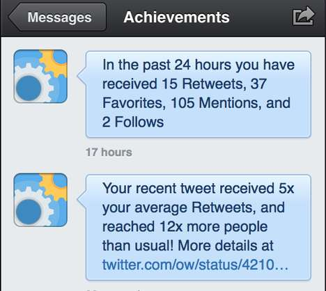 Gamified Twitter Accounts - AchievementBird is a Twitter Tool That Measures an Account's Engagement