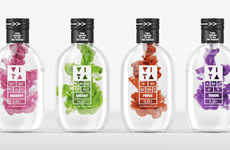 Engrossing Emulsifying Branding - VITA Vitamin Water Packaging Displays a Spectacular Mixing Process