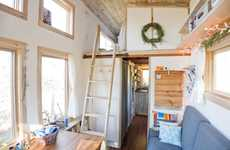 Self-Sufficient Treehouse Homes - The Tiny Treehouse-Inspired House on Wheels Keeps Things Compact