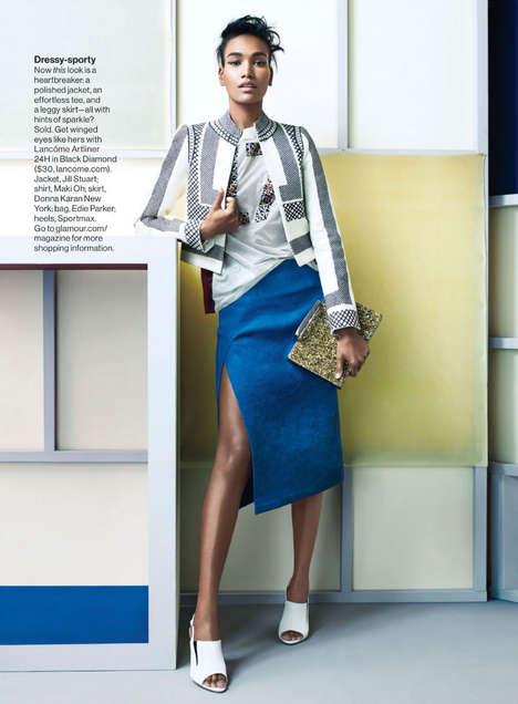 Geometric Skirt Editorials