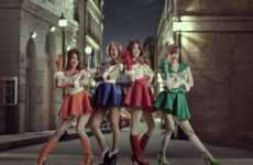 Anime-Inspired Singer Ads - The Korean Pop Group 'Sistar' Parodies Sailor Moon in This Commercial
