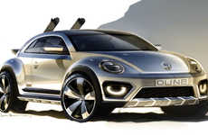 Desert-Ready Mini Cars - A VW Beetle Dune Concept Car Will be Released at the Detroit Auto Show 2014