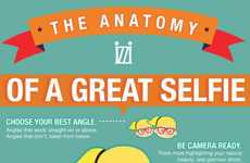 Selfie Statistic Graphics - This Infographic Examines the Anatomy of a Selfie