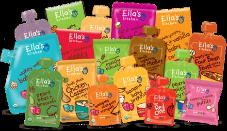 Organic Sensory-Engaging Foods - Food by Ella's Kitchen is a Fun Way to Get Your Baby Eating Healthy