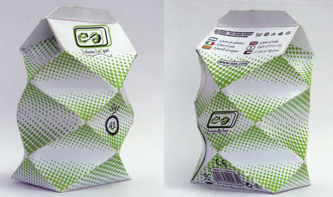 Crumpled Clothing Cartons - EAS Socks Packaging Reference the Slumping Accessories Stored Inside