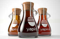 Beautiful Flask Branding - Yapira Honey Packaging Transcends Typical Disposable Condiment Containers