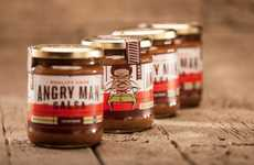Rage-Based Branding Schemes - Angry Man Salsa Packaging Infuses the Sauce with Fiery Feelings