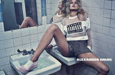 Bathroom-Set Fashion Ads - The Alexander Wang Spring 2014 Campaign Stars Anna Ewers