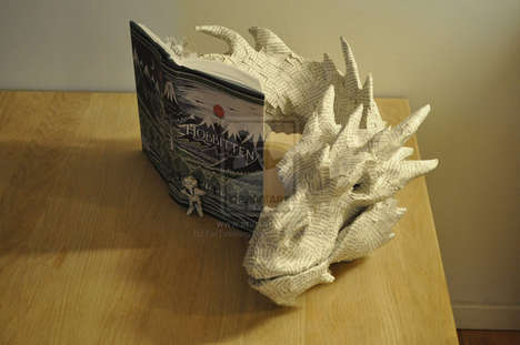 3D Paper Dragon Sculptures