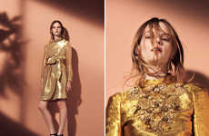 Elegantly Metallic Fashions - Issa's Sophisitcated Collection Boasts Gilded and Bronze Tones