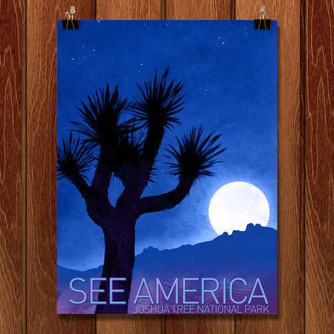 Revived Iconic Park Posters