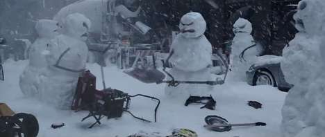 Enraged Snowmen Car Ads - Nissan Takes On Zombie Snowmen in the New 2014 Nissan Rogue Ad