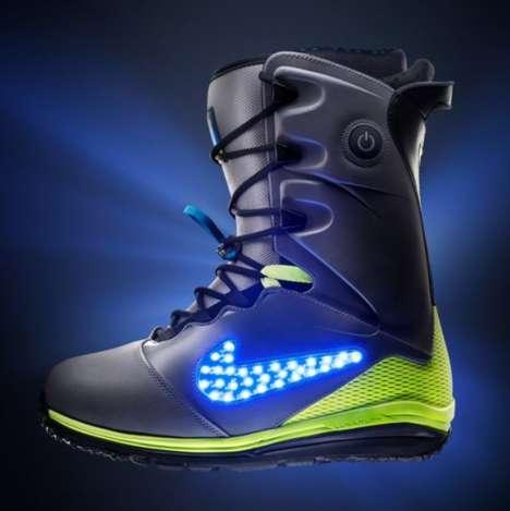 Light-Up Snowboarding Boots