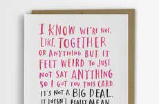 Awkwardly Rambling Romantic Cards - Share How You Feel with These Hilarious Valentine's Day Cards