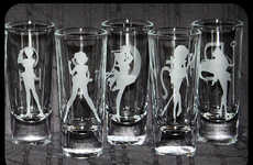 Anime Silhouette Shot Glasses - These Sailor Moon Shot Glasses Were Made by LittleBlobOfGreen