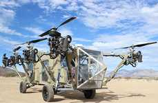 Flying Military Hybrid Vehicles - The Black Night Transformer is an Unmanned Helicopter Truck