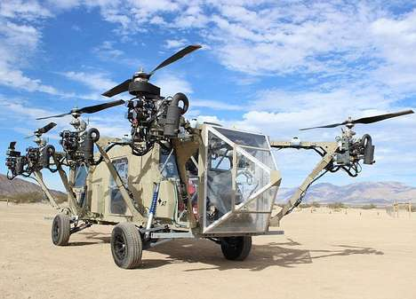 Flying Military Hybrid Vehicles