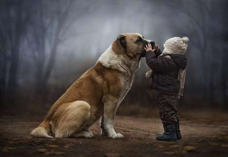 Enchanting Child Pet Photography
