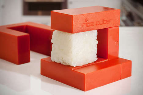 Cube-Shaping Food Gadgets - Create Blocks of Rice Like a SousChef with the Rice Cube Kitchenware