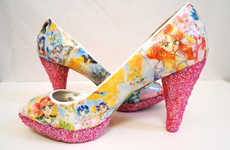 Manga-Inspired Soaring Pumps - These Glam Sailor Moon Shoes Come From Quirkyfoxdesigns on Etsy