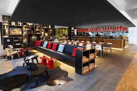 Social-Promoting Hotels - The New citizenM Hotel is One of Europe's Top Minimalist Boutique Hotels
