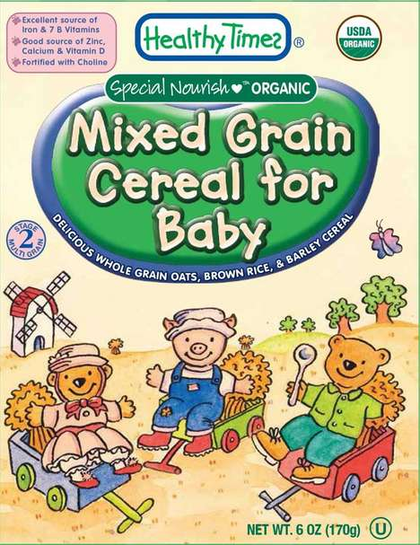 Organic Infant Cereals - 'Healthy Times' Makes Baby Food in the Form of Mult-Flavoured Cereals