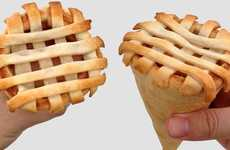 Reshaped Pastry Desserts - The Apple Pie Cone Makes the Treat Easier to Handle and Eat