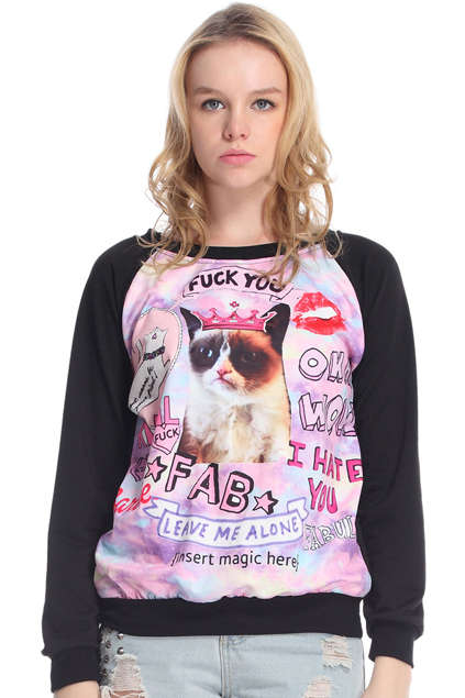 This Grumpy Cat Sweater Will Definitly Cheer You Up