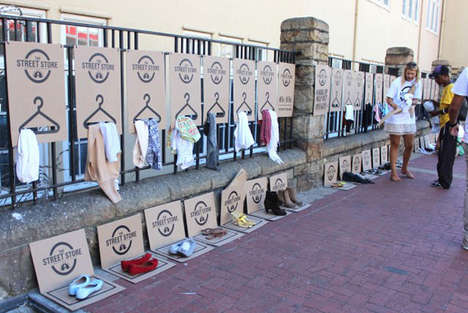 Charity Pop-Up Shops - The Street Store Provides Shopping Experience for Homeless Individuals