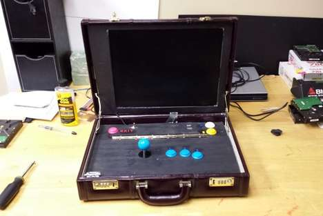 Retro Valise Arcades - Take Your Favorite Games to Work with the Briefcase Arcade Machine