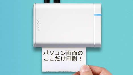 Screen-Capturing Miniature Printers