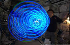 Spiraling Space Lights - Astronaut Koichi Wakata Makes Some Zero Gravity Art with LEDs