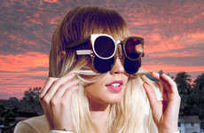 Bold Celebrity Sunwear Campaigns - The Outragious 'Quay Eyewear' Sunglasses Add Pizazz To Style