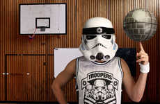 Space Empire Athletic Attire - The Stormtrooper Basketball Jersey Combines Sports and Sci-Fi