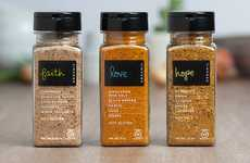 Sentimental Spice Branding - Virtuous Living Spices Packaging Contains More Than Edible Ingredients