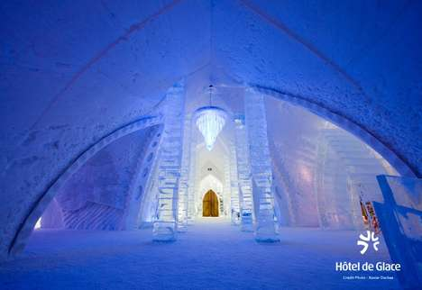 Disney-Inspired Ice Getaways - This Hotel de Glace Suite is a Tribute to Disney's Film Frozen
