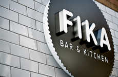 Edgy Venue Brand Revivals - The Fika Bar & Kitchen Makeover Takes on a Quirkier Branding Design