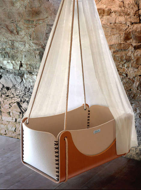 Chic Eco-Friendly Cradles - A Tree is Planted for Ever Sold Unit of Woodly Baby Cradles
