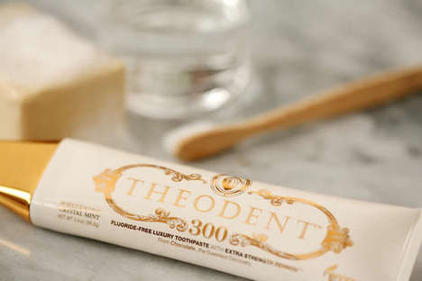 $100 Luxury Toothpaste Tubes - The Theodent 300 Will Make Your Teeth Sparkle